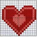схема вышивка сердечко
