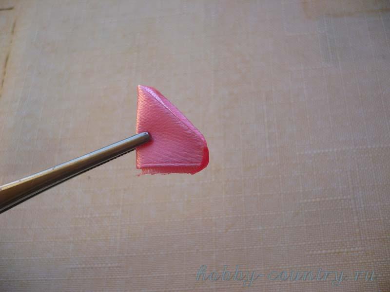 опаливание круглый лепесток цуммами канзаши