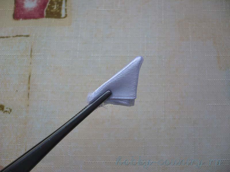 круглый плоский лепесток резинка канзаши