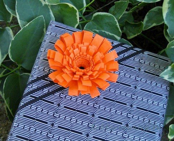 квилинг пышный цветок пошагово