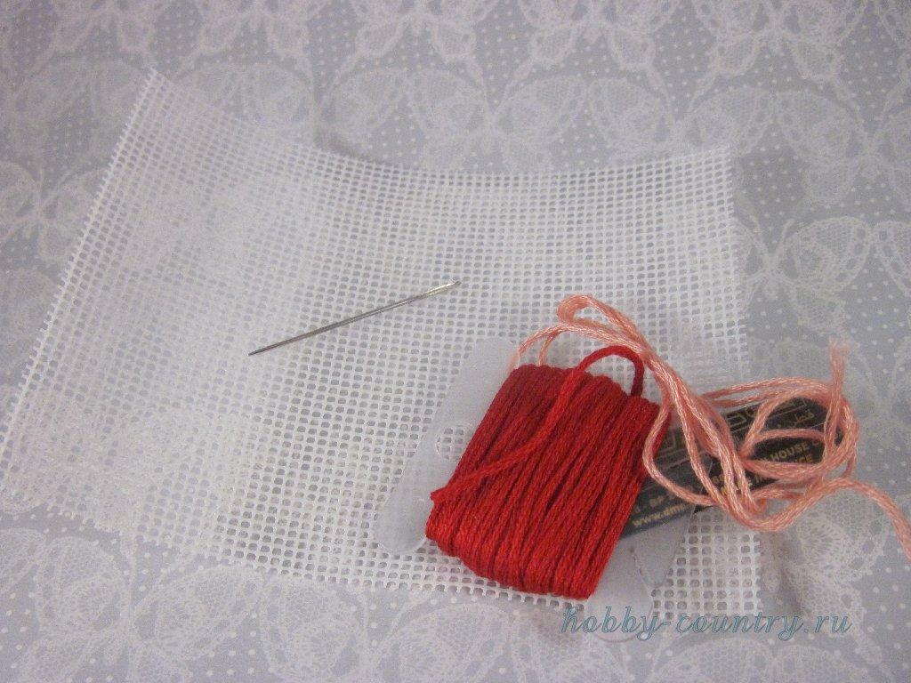 материалы для вышивки на пластиковой канве