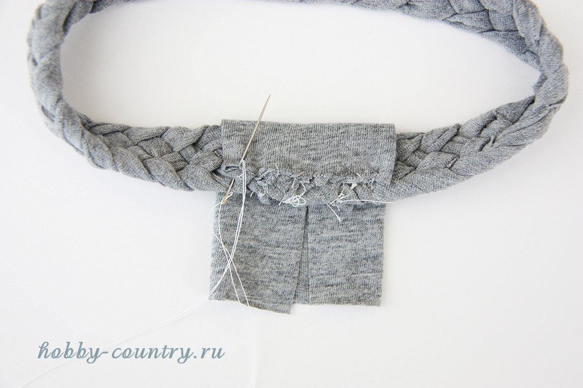 трикотажная повязка пошагово