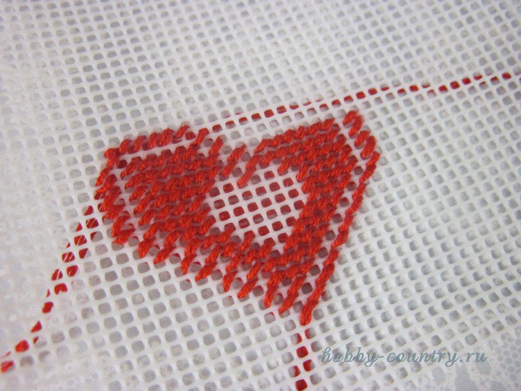 Как вышивать на пластиковой канве схемы