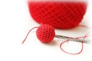 Как обвязать бусину крючком