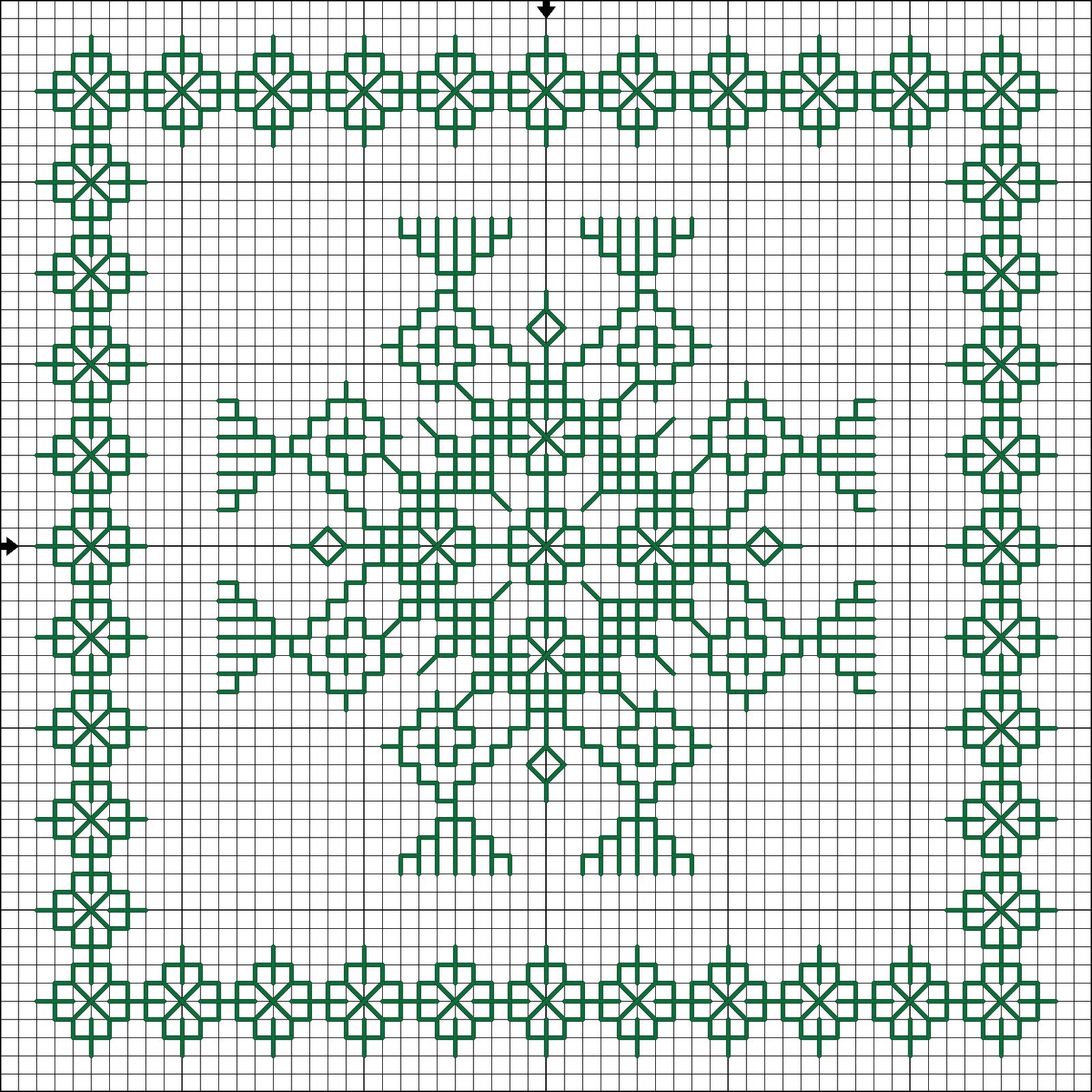 схема для бискорню индийский орнамент