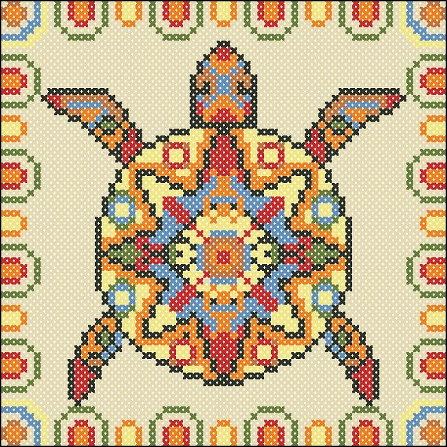 схема вышивки Черепаха