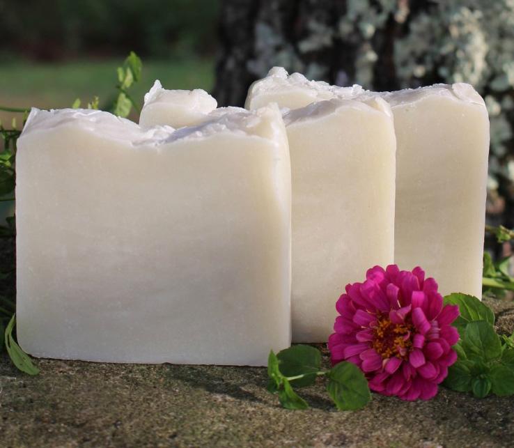мятное мыло с  нуля с зеленой глиной