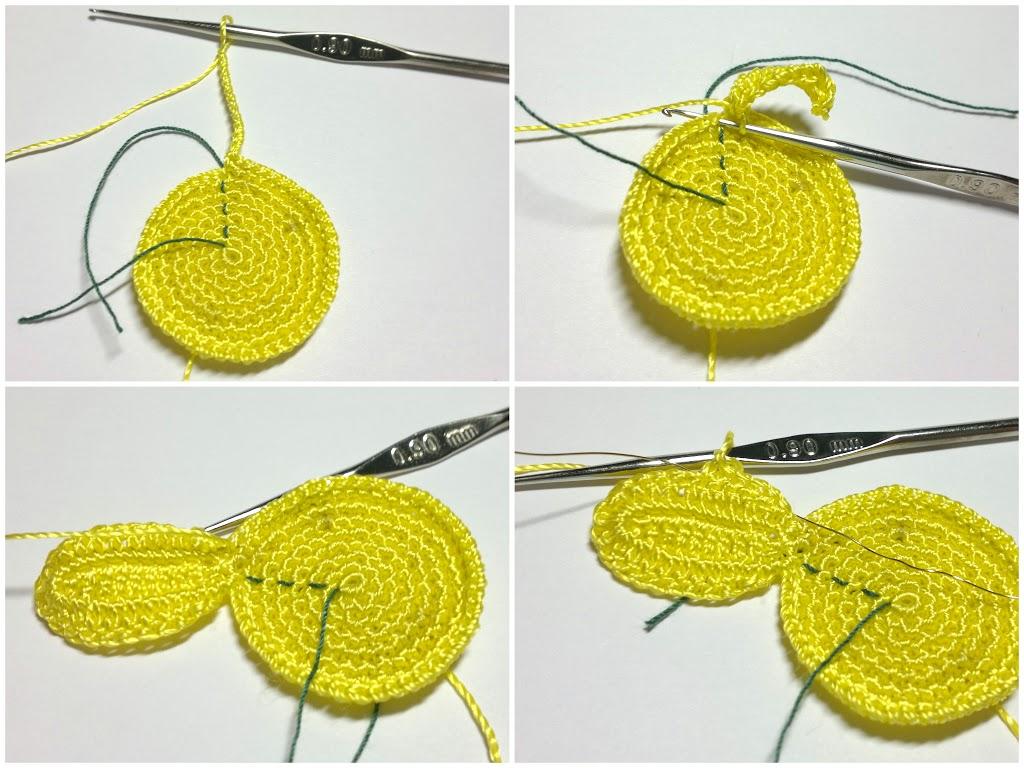 вязание крючком подсолнух