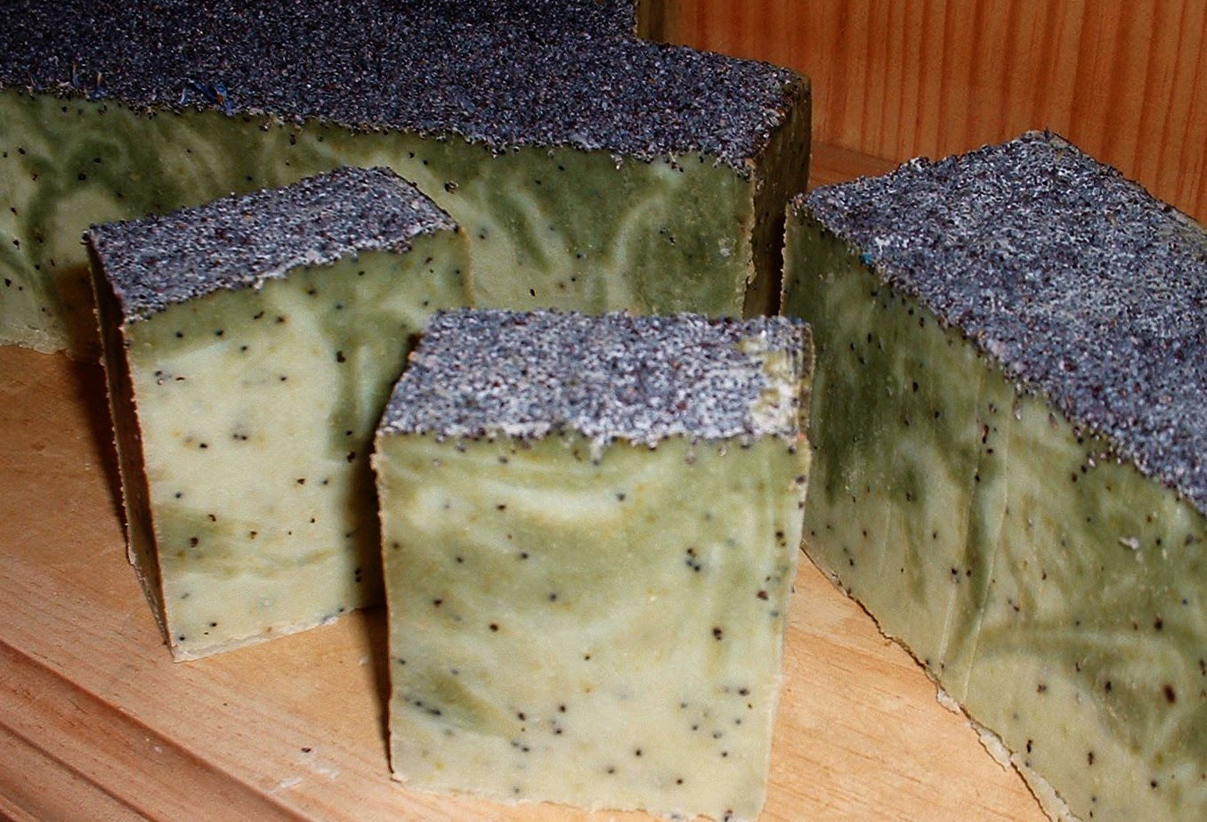 poppy seed and eucalyptus exfoliating soap