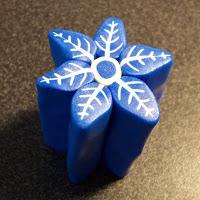 как сделать снежинку из пластики мастер-класс