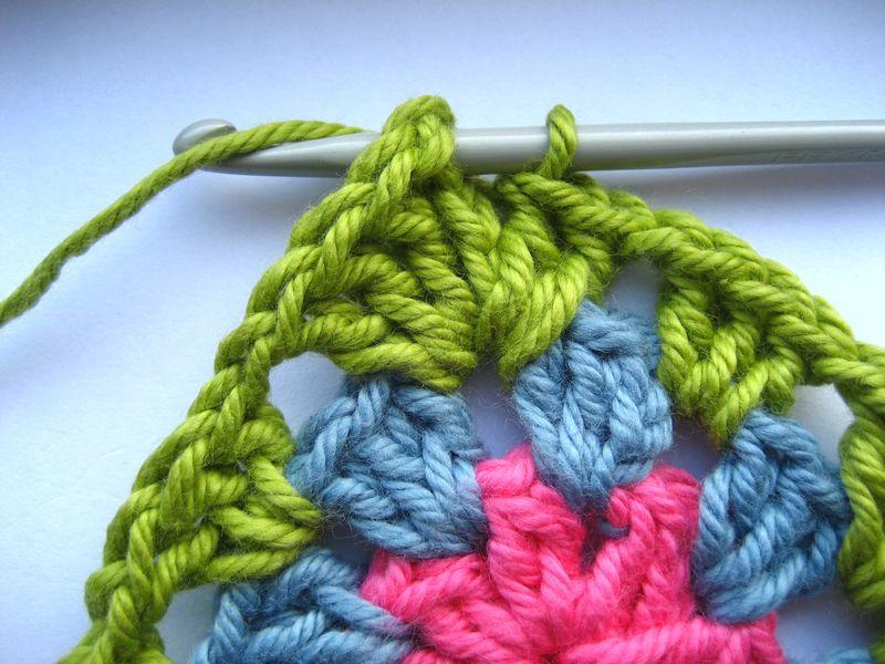 вязание мотивов крючком