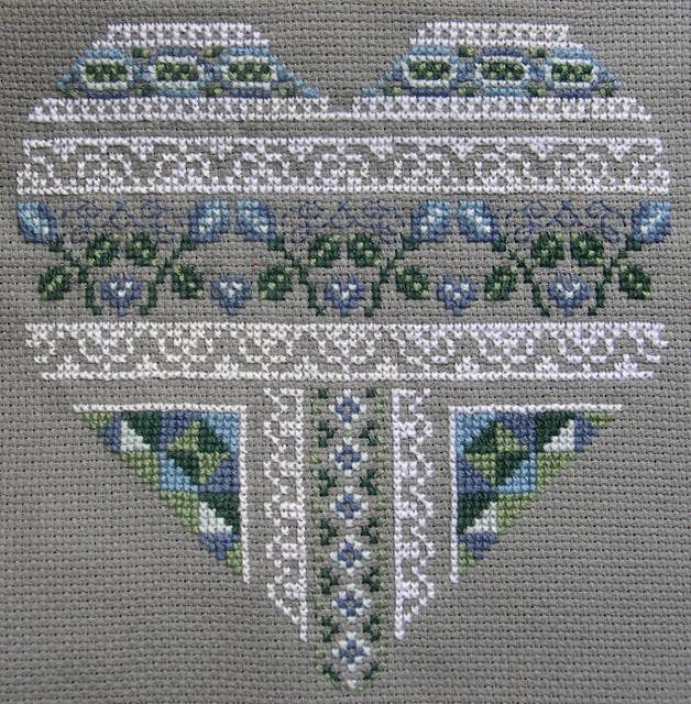 схема для вышивки крестом сердечко