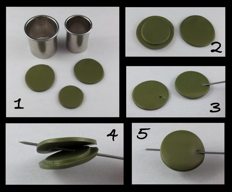 круглая бусина со скошенным отверстием мастер-класс полимерная глина