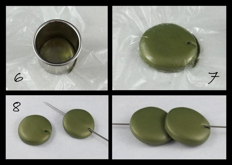 фимо пластика мастер класс круглая бусина с одним отверстием