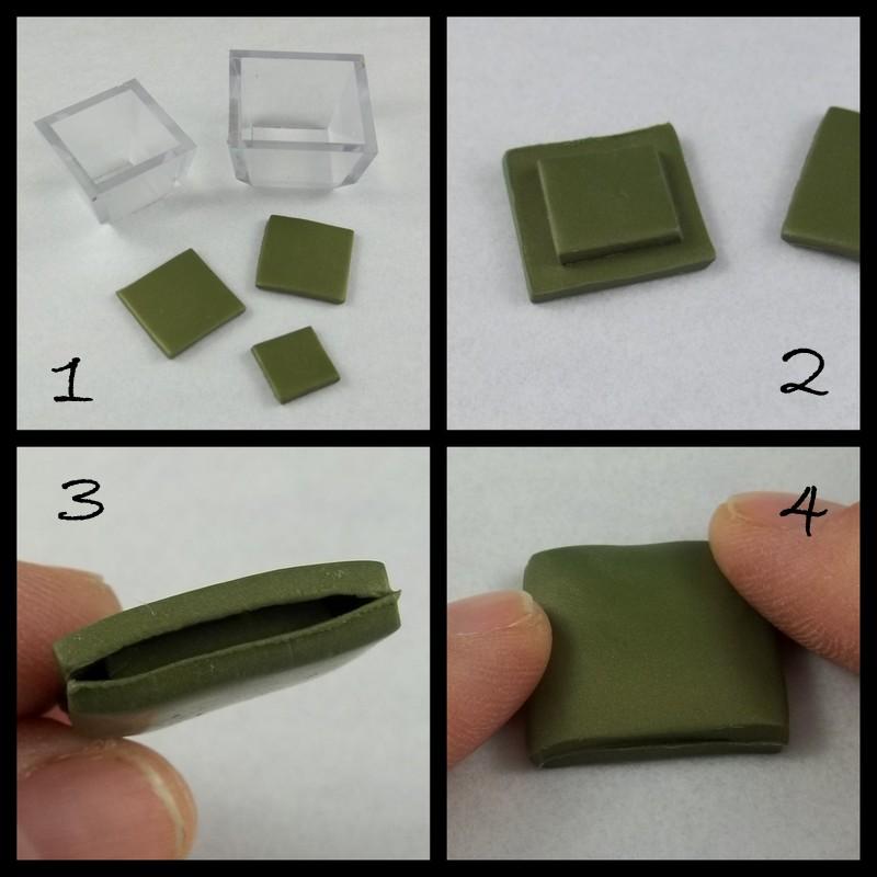 квадратные бусины из полимерной глины мастер класс