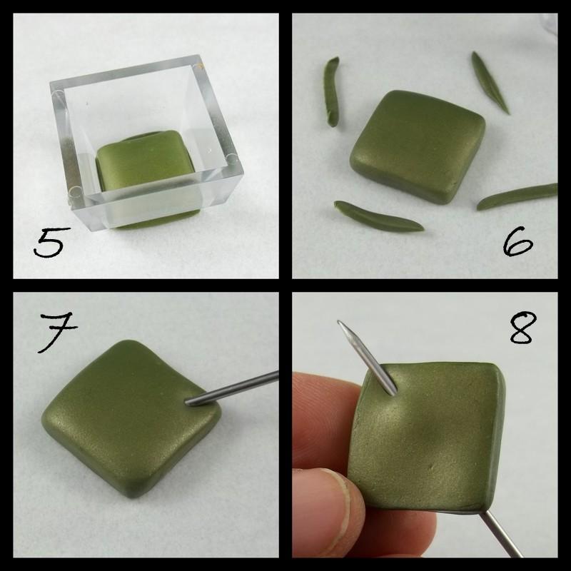 бусины полимерная глина с одним отверстием мастер класс