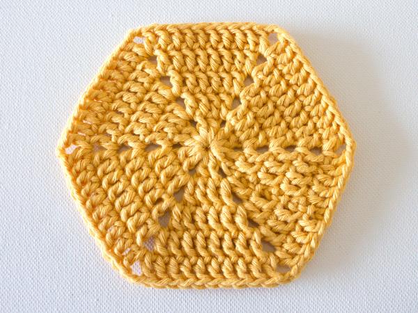 шестиугольный мотив крючком вязание