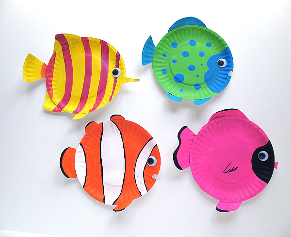 рыбки из одноразовых тарелок