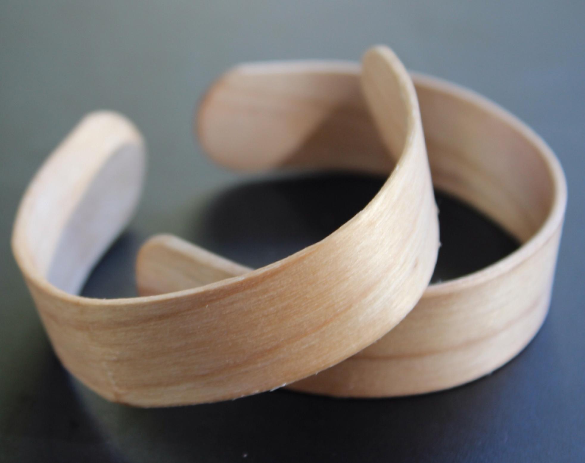 круглая заготовка для браслета из деревянной палочки от мороженого