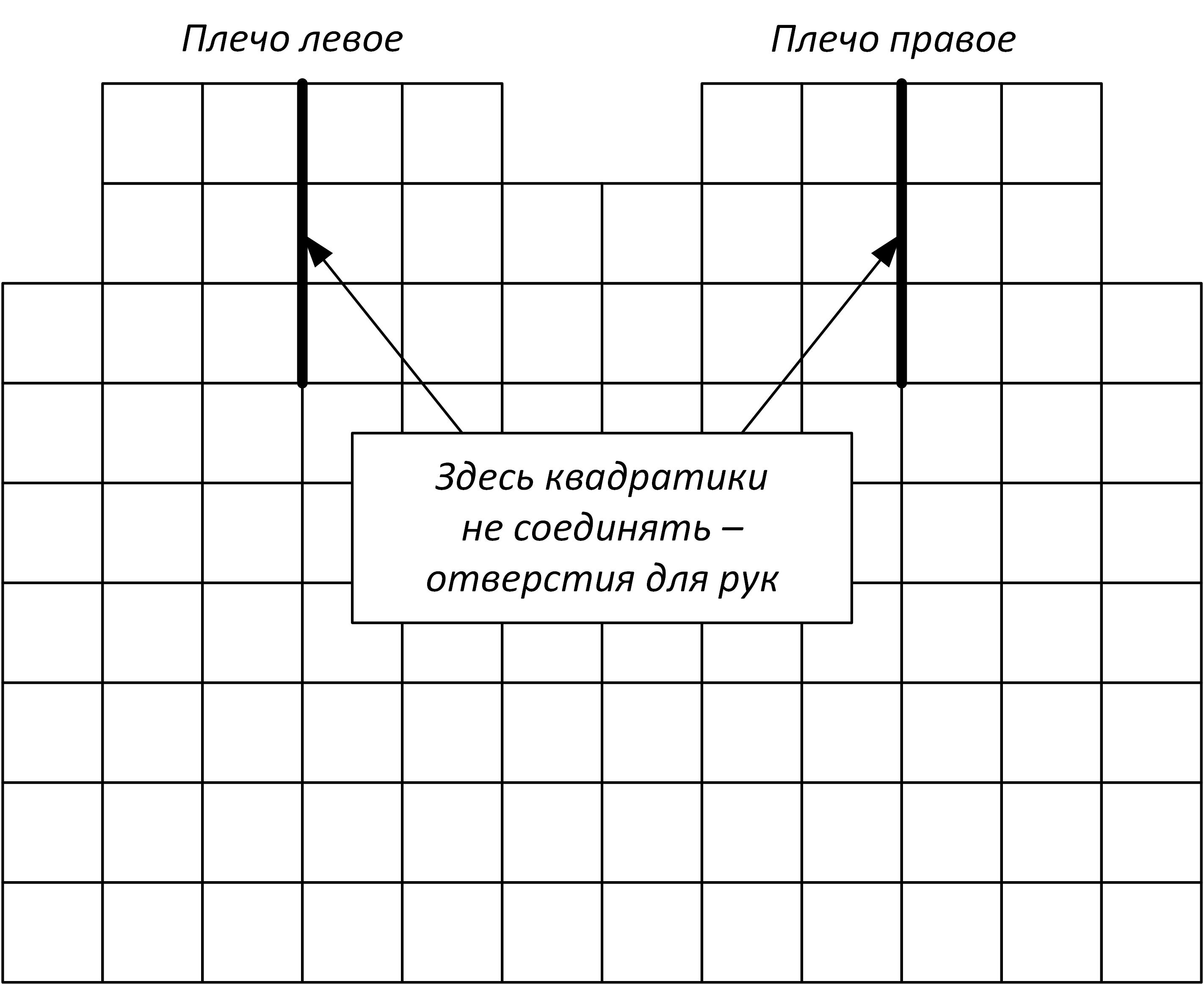 выкройка жилета из квадратов