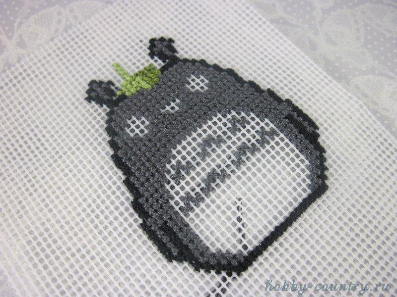 брелок Тоторо мастер класс вышивка крестиком