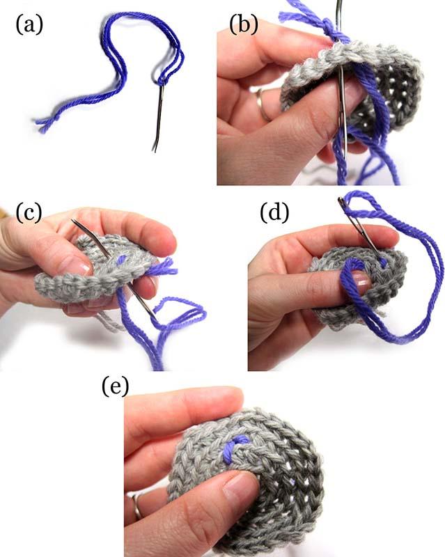 как вышить мордочку вязаной игрушке