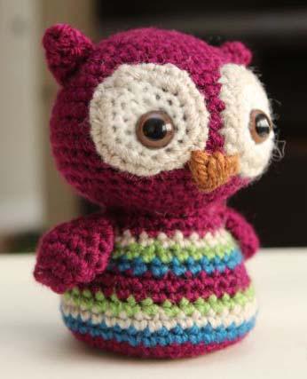 вязание крючком игрушка сова
