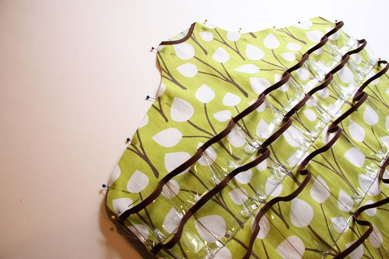 пошив подвесной системы хранения мелочей на вешалке