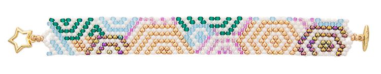 схема для плетения браслета пейот