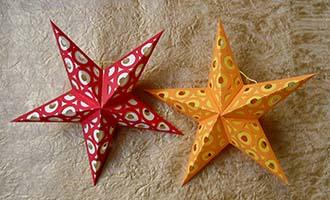 ажурное вырезание игрушка звезда из бумаги
