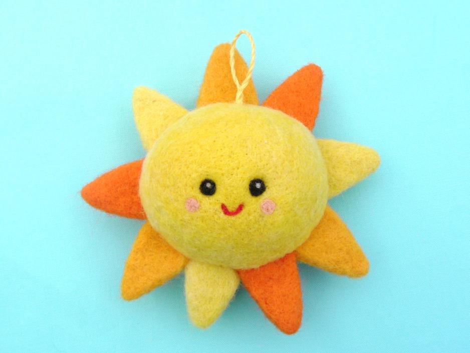 игрушка солнышко валяние