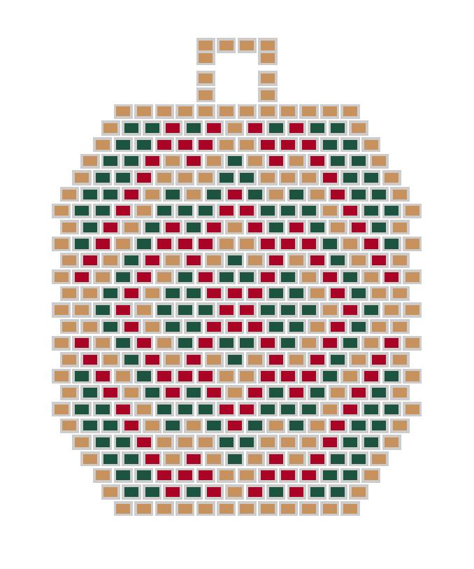схема плетения из бисера серьги с орнаментом кирпичное плетение