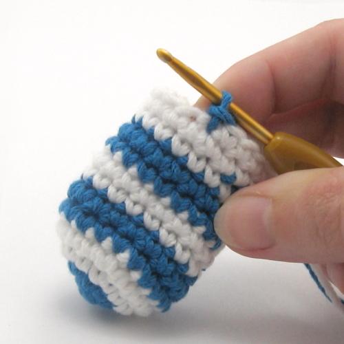 мастер класс вязание крючком смена цвета нити