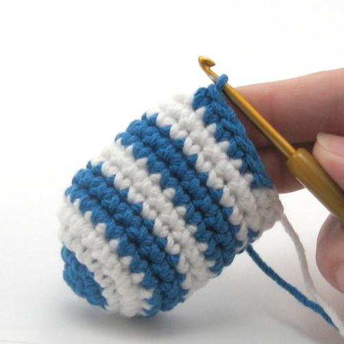 мастер класс вязание крючком как сменить цвет нити