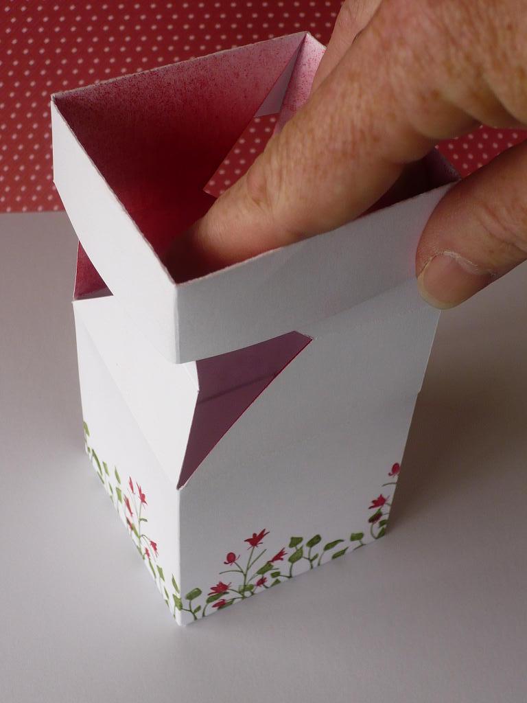коробка со складывающейся крышкой мастер класс