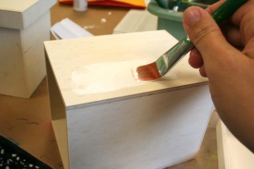 декупаж деревянного ящика пошагово