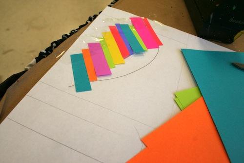 декупаж коробки декор в виде листочка