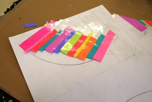 разноцветный листик из цветной бумаги декор изделий в технике декупаж мастер класс