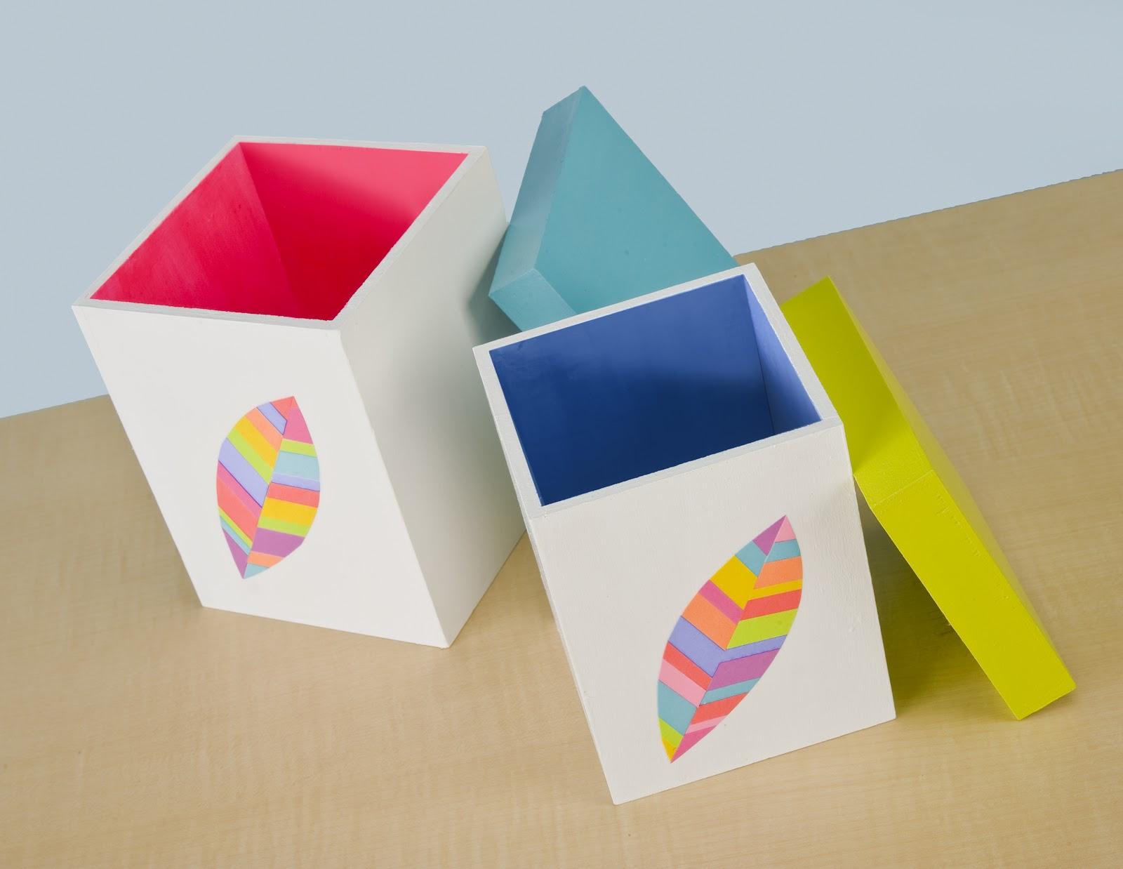 мастер класс декупаж деревянного ящика радужный разноцветный лист