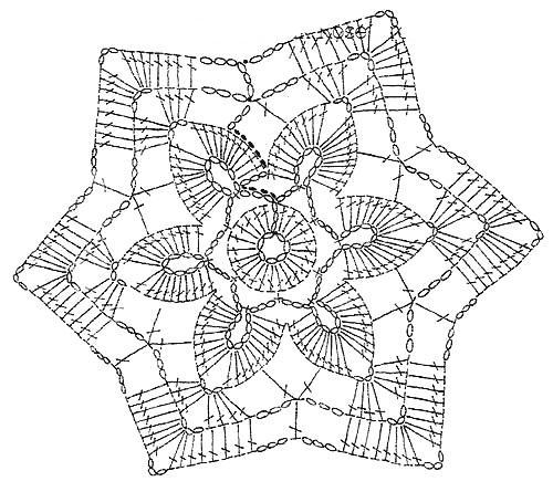 вязание крючком схема шестиугольник