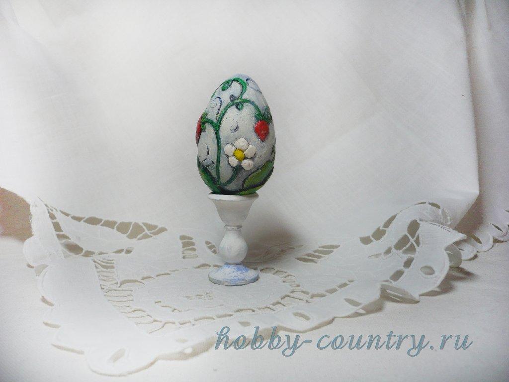 яйцо из гипса декорирование резьба по шпатлевке