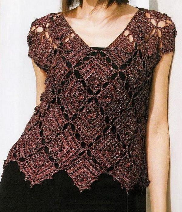 вязание из мотивов футболка