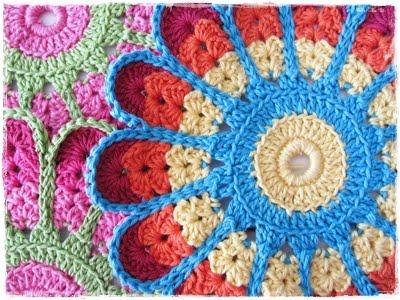 вязание мотив цветок крючок