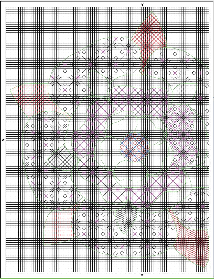 схема для вышивки роза тюдор blackwork
