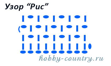 Узор крючком рис схема