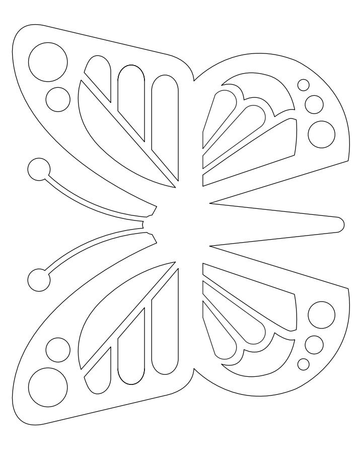 шаблон бабочка из бумаги