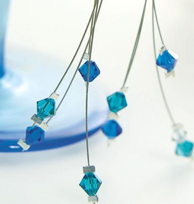 серьги с бусинам кристаллами своими руками