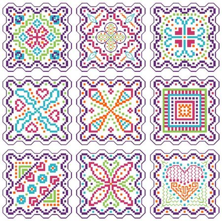 12 мотивов схема вышивка бискорню банурукотти пятиклинка