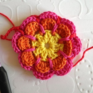 вязание крючком цветок мотив схема