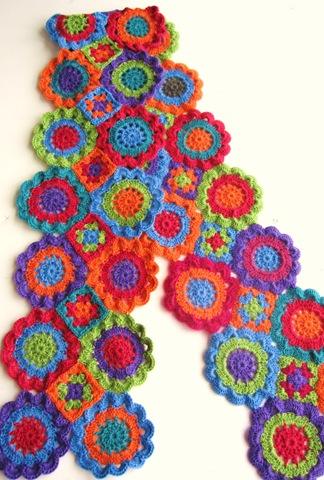 шарф вязание крючком из мотивов